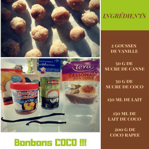 ingredients bonbons coco